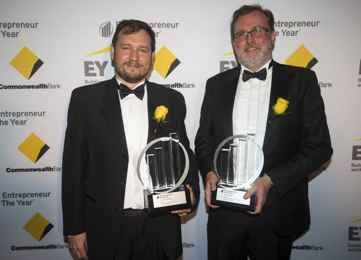 JP Syriatowicz and Stephen Barker 2018 EY winners